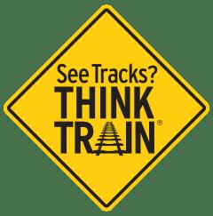 logo: See Tracks? Think Train